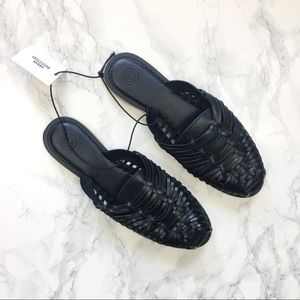 NEW UO Leather Huarache Slide Mule Sandals Sz 8